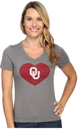 Life is good OU Heart Short Sleeve Tee $32 thestylecure.com