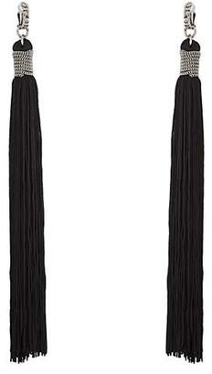 Saint Laurent Women's Loulou Drop Earrings - Gray
