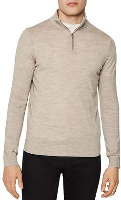 Reiss Blackhall Half-Zip Mock-Neck Sweater