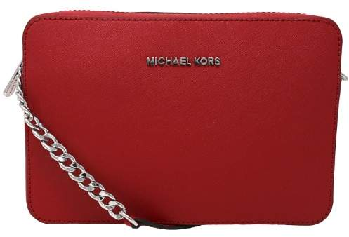 Michael Kors Jet Set Travel Large Saffiano Leather Crossbody- Bright Red - BRIGHT RED - STYLE