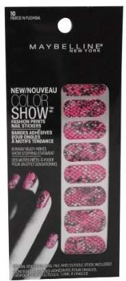Maybelline Color Show Fashion Prints Nail Stickers Fierce N Fushsia