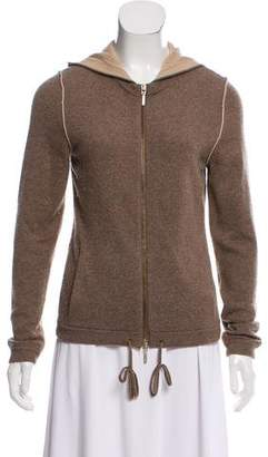 Magaschoni Cashmere Hooded Cardigan