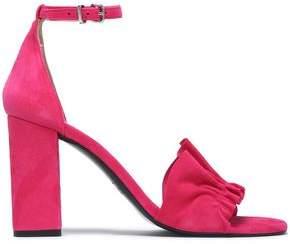 Claudie Pierlot Ruffle-Trimmed Suede Sandals