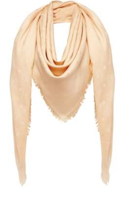 MCM Classic Jacquard Square Scarf In Silk Wool