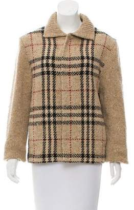 Burberry Wool & Cashmere-Blend Nova Check Jacket
