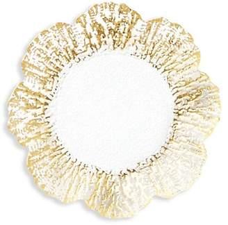 Vietri Rufolo Gold Canape Glass Plate