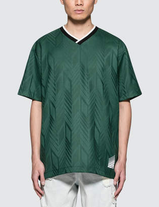 Alexander Wang Custom Wool Jacquard Soccer Polo Shirt