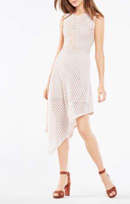 BCBGMAXAZRIA Tracie Asymmetrical Lace Dress