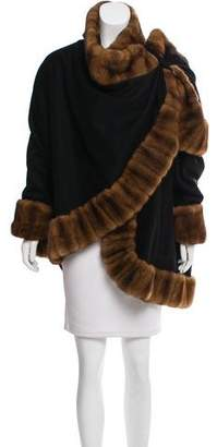 J. Mendel Asymmetrical Fur-Trimmed Coat