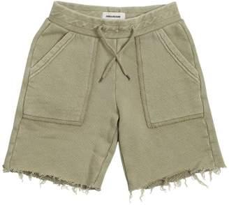 Zadig & Voltaire Zadig&voltaire Cotton Sweat Shorts W/ Raw Cut Hem