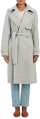 Theory Women's Oaklane Wool-Cashmere Coat-DARK GREY $795 thestylecure.com
