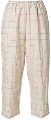 Forte Forte squared cropped trousers