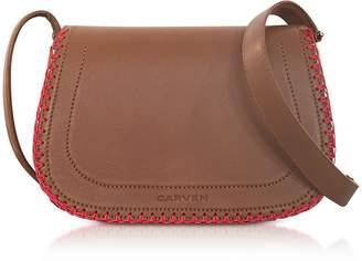Carven Mazarine Toscane Brown Leather Crossbody Bag