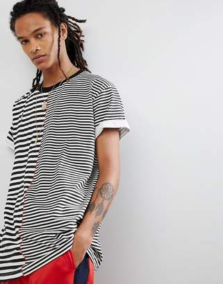 Night Addict Split Stripe Oversize T-shirt
