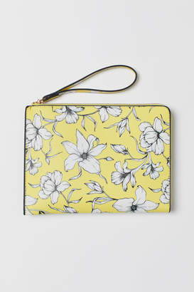 H&M Patterned Clutch Bag - Yellow
