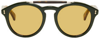Gucci Green Opulent Luxury Vintage Pilot Sunglasses