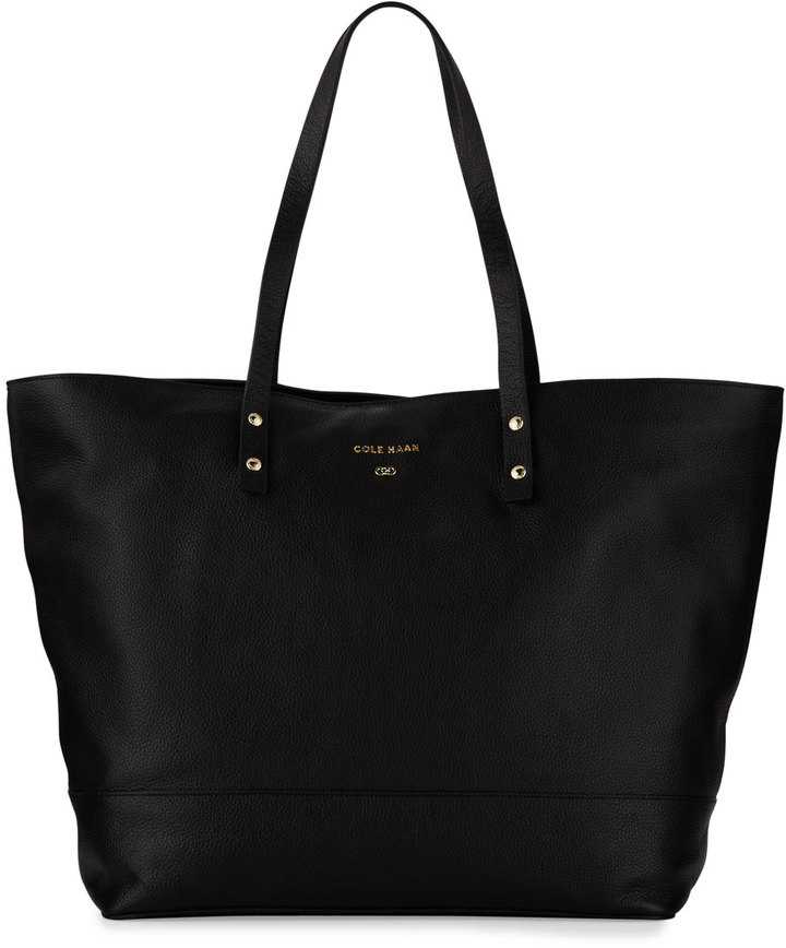 Cole Haan  Cole Haan Beckett Leather Work Tote Bag, Black