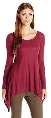 Blu Pepper Women's Knit Long Sleeve Tunic Top