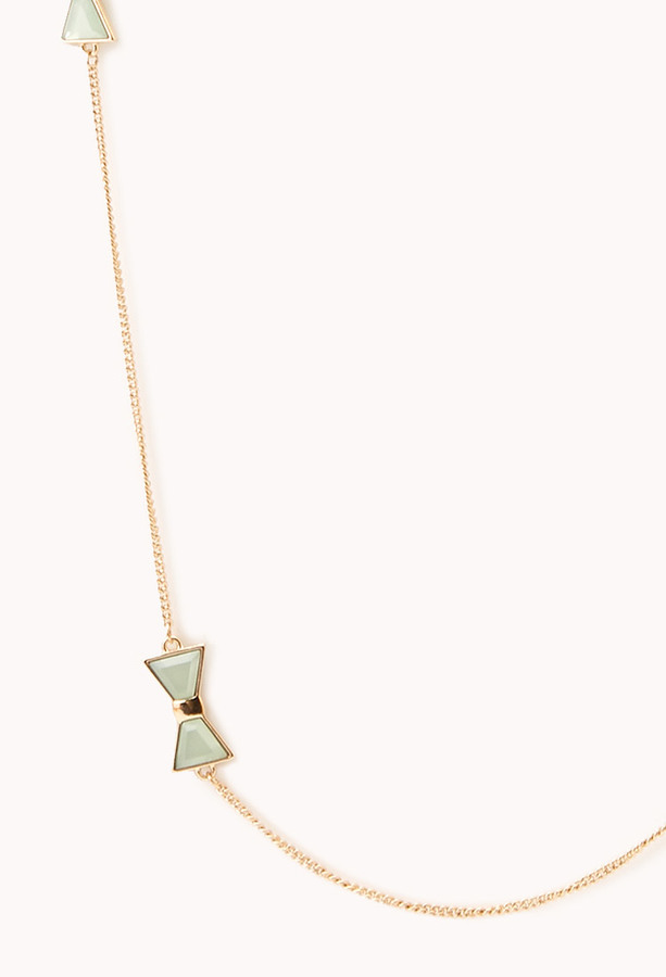 Forever 21 Girly Bow Chain Necklace