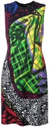 Versace multi print sleeveless dress
