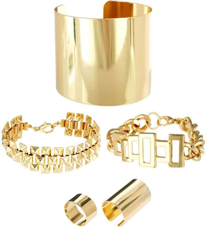 Asos Chunky Bracelets & Rings Multipack