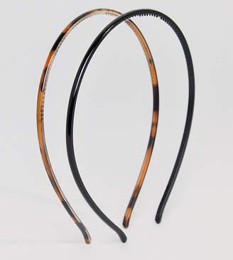 Asos Design DESIGN pack of 2 plastic headbands