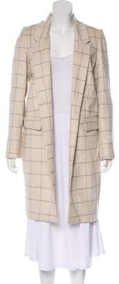 Calvin Klein Notch-Lapel Knee-Length Coat