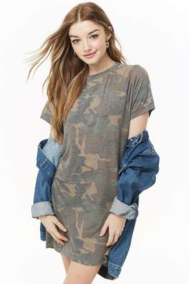 Forever 21 Faded Camo T-Shirt Dress
