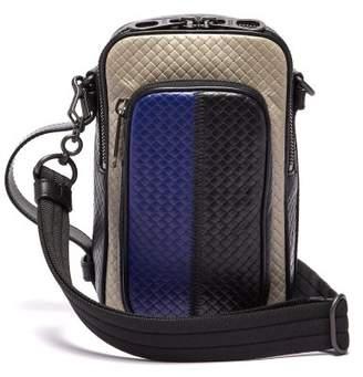 Bottega Veneta Intrecciato Woven Cross Body Bag - Mens - Black Multi