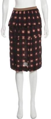 Marni Draped Knee-Length Skirt w/ Tags