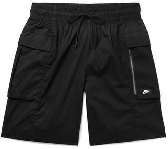 Nike Sportswear Stretch Cotton-Blend Poplin Cargo Shorts