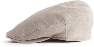 Reiss Balmoral Linen Flat Cap
