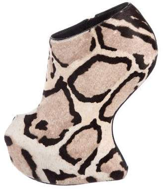 Giuseppe Zanotti Ponyhair Platform Boots