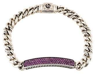 David Yurman Sapphire Petite Pavé ID Bracelet