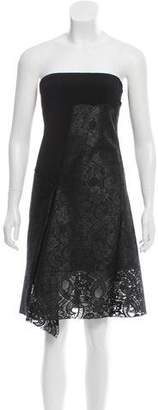 Reed Krakoff Strapless Lace-Accented Dress