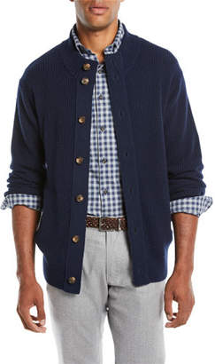 Peter Millar Men's Button-Front Wool-Blend Cardigan
