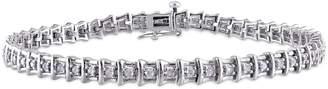 Concerto Sterling Silver 1 CT. T.W. Diamond Tennis Bracelet