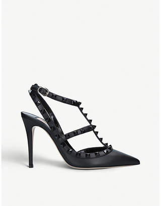 a7e394d8505 at Selfridges · Valentino Rockstud 100 leather courts