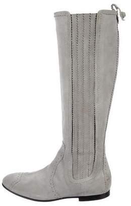 Balenciaga Brogue Suede Boots