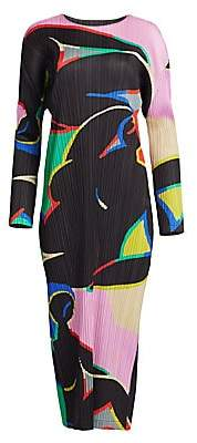 Pleats Please Issey Miyake Women's Relaxing Pleated Midi Dress