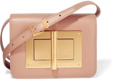 TOM FORD - Natalia Small Embellished Leather Shoulder Bag - Baby pink