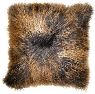 Aviva Stanoff Design Dip-Dyed Mongolian Fur Accent Pillow