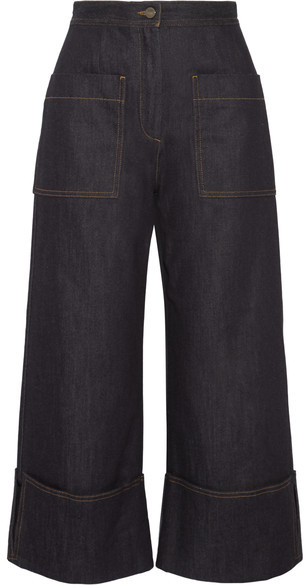 Fendi Fendi - High-rise Wide-leg Jeans - Dark denim