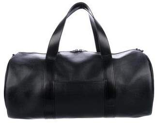 Saint Laurent Leather-Trimmed Coated Duffle
