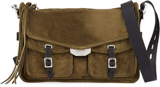 Rag & Bone Field Suede/Leather Crossbody Messenger Bag