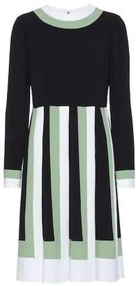 Valentino Striped crêpe dress