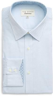 Ted Baker Endurance Grahite Extra Slim Fit Houndstooth Dress Shirt