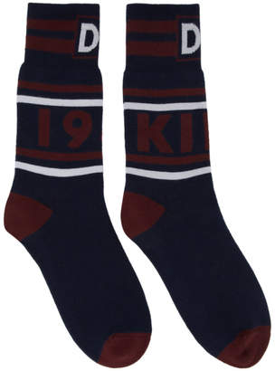 Dolce & Gabbana Navy and Red King 1984 Socks