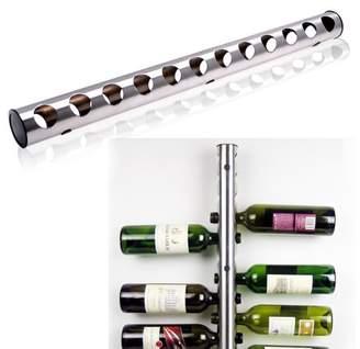 AGPtek AGPTEK Stainless Steel Wine Rack Bar Wall Mounted Kitchen Holder 12 Bottles