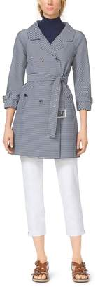 Michael Kors Gingham Techno-Twill Trenchcoat